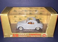 Brumm 1949-1955 Fiat 500C Topoline HP 16.5 R13 Gray Coupe Oro Revival in Box
