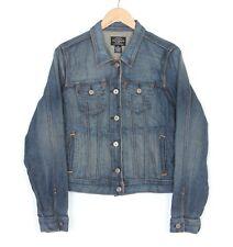 RALPH LAUREN Polo Jeans LYDIA JEAN Short Denim Trucker Jacket Women Size XL