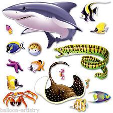 Underwater Marine Life Party Scene Setter Add-on Prop Decoration SHARK & EEL