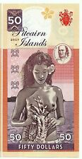 More details for pitcairn islands 50 dollars [2017] - a crisp private issue note