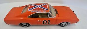 1/18 Diecast Car General Lee Dukes of Hazard 1969 Dodge Charger 2005 No Box (D3)