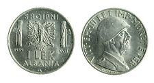 pcc1712_12) ALBANIA Vittorio Emanuele III  (1939-1943) 1 LEK 1939