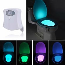 8 Colors LED Toilet Bathroom Night Light Motion Activated Seat Sensor Lamp AHTR
