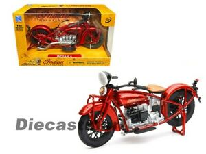 New Ray Motorcycles 1:12 1930 Indian 4 Red Diecast Model 58223 New In Box