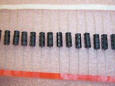QTY (100) 68uf 16V AXIAL ALUMINUM ELECTROLYTIC CAPACITORS  ITT