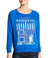 Prince Peter Collection Happy Hanukkah Gin & Tonica Graphic French Sweatshirt XS