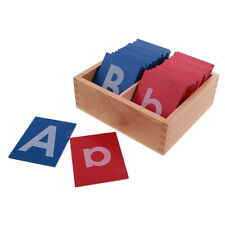 Wooden Sandpaper Alphabet Box Preschool Kids Letter Learning Toy Teaching Aids