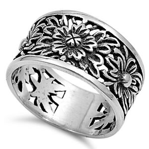 925 Sterling Silver PRETTY PLUMERIA, ROSE FLOWER DESIGN RINGS SIZES 2 to 13**