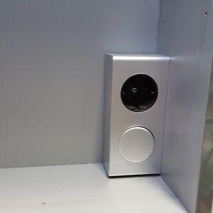 Steckdose mit Schalter für Möbeleinbau 230 Volt Bad Spiegel Schrank  Helitec4188
