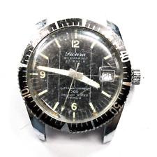 Vintage Sicura Submarine Diver Sport Watch Black Bezel & Dial 35mm 23 Jewels