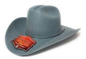 MEN'S GRAY WESTERN COWBOY RODEO HAT, WESTERN FELT HAT SOMBRERO TEXANA VAQUERA