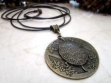 Halskette Anhänger Tiermotiv Kette Modeschmuck Bronze Schildkröte Leder Schmuck