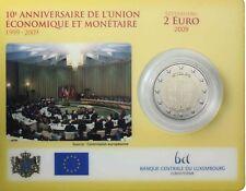 Luxemburg 2 Euro 2009 Wirtschaftsunion 10 Jahre WWU EMU in CoinCard