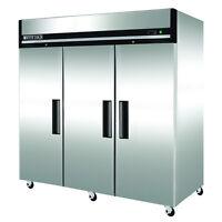 "Maxx Cold MXCF-72FD 81"" W Three 3 Door Upright Reach-In Commercial Freezer 72cf"