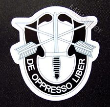 US Army Special Operations Insignia De Oppresso Liber Waterproof Vinyl Decal