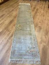 Edler Orientteppich Seide China Seidenteppich Brücke / Galerie 335 x 69 TOP