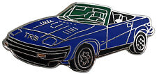 Triumph TR8 car cut out lapel pin - Blue