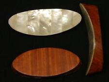 Messerbank, feinstes Perlmutt aus Burma irisierend & Teak , ca 6,5 cm