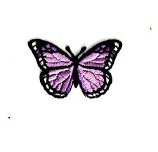 Purple BUTTERFLY Iron-On Applique Embroidered Sewing Craft Supply Embellishment