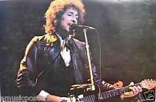 "BOB DYLAN ""PLAYING GUITAR IN CONCERT"" SCOTTISH POSTER FROM 1979 - Classic Rock"