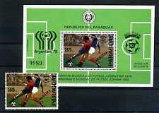 Paraguay 1979 Fußball WM ** postfrisch Block 343 + 3227 Muestra BR332