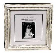 Silver Embossed Wedding Photo Album Holds 60 Pictures