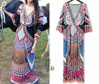 AU SELLER BOHO Kaftan Party Beach Kimono Maxi Dress Bikini Cover UP dr177