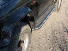 Mitsubishi Pajero 1982-1990 | MARCHE-PIEDS INOX PLAT / PROTECTIONS LATERALES