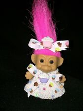 Troll crochet doll clothes - Cuppy Cake  Outfit-2.5''- 3'' troll-BY NIKO