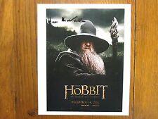 "IAN  McKELLEN (""The Hobbit: An Unexpected Journey"") Signed 7 1/2 x 9 Color Photo"