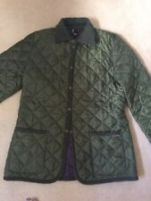 Ladies Lavenham Barbour Style Green Quilted Jacket UK 14