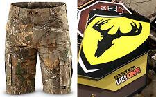 Scent Blocker Bone Collector Recon Realtree Camo Cargo Hunting Shorts ~ Sz M NWT