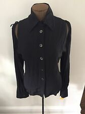 Anne Demeulemeester  Vintage Black  Iconic detachable sleeve blouse