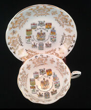 "Vintage 1960s Paragon Fine Bone China CANADA ""Coat Of Arms"" Tea Cup And Saucer"