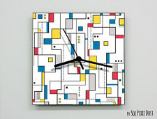 Piet Mondrian Abstract seamless pattern Wall Clock