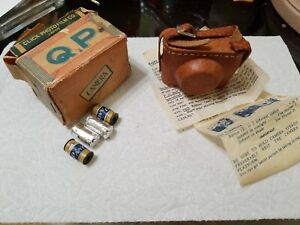 Q.P. Subminiature Hit Type Camera Made Japan - Miniature with box film case