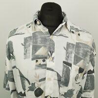 RETRO Mens Vintage Shirt Funky Crazy 80s 90s Hippy Hawaiian XL RELAXED Abstract
