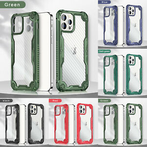 For iPhone 12 Pro Max 11 XS XR 8 Plus Clear Shockproof Hybrid Bumper Case Cover
