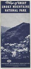 Vintage 1951 Tourism Brochure & Map: SMOKY MOUNTAINS NATIONAL PARK