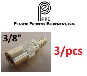 "PPE PC-308 Quick Connect Coupling Brass 1/2"" Hose 3/8"" Body 3/pcs - GENUINE"