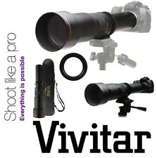 Vivitar Super 650-1300mm Telephoto Lens For Nikon D5500 D3400 D5600 D7500 D500