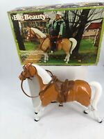 Big Beauty Poseable Horse with Western Saddle, Bridle And Bit.