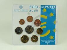 *** EURO KMS GRIECHENLAND 2002 BU Auflage 5000 Stück Zweizeiler Coin Set Greece