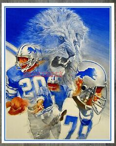 NFL Detroit Lions Color ART Poster Reprint Print 8 X 10 Photo Picture