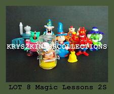 Lot série complète Kinder 8 Magic Lessons 2S France 2006 + 1 BPZ