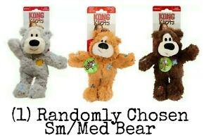 Kong WILD KNOTS - (1) Random Sm/Med Bear - Rope Body Minimal Stuffing Dog Toy