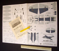 Bundesmarine Hawker SeaHawk Wilhelmshaven Modellbaubogen Jade-Verlag 70s Vintage