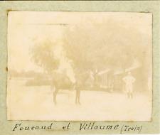 Deux militaires (Foucaud et Villaume) ca.1897 vintage citrate print Vintage citr