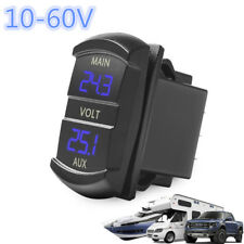 Universal 10-60V Blue LED Dual Digital Voltmeter Voltage Monitor Car Truck Boat