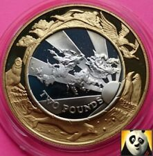 1999 2000 FALKLAND ISLANDS £2 Two Pound Millennium Silver & Gold Proof Coin +COA
